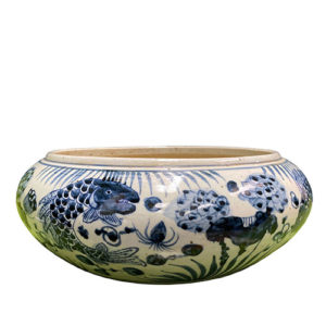 Blue and White Bowl with Fish Motif